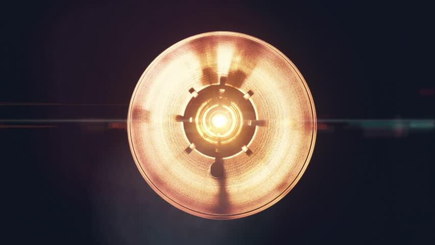 Bright orange spotlight turning on and off | Shutterstock HD Video #23622898