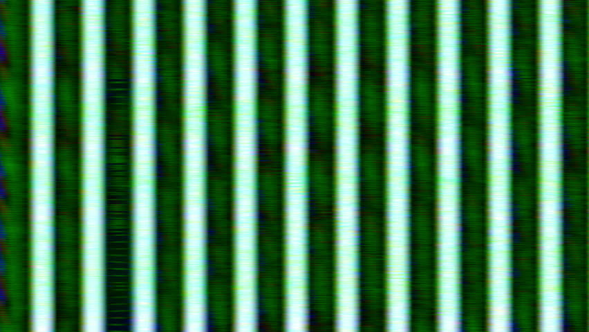 Green Analog HD Video Feedback Vertical Bar Pattern Texture - HD stock video clip