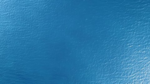 Aerial view of the surface of the sea.