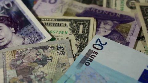 Currency mix, EUR, USD, GBP, SEK