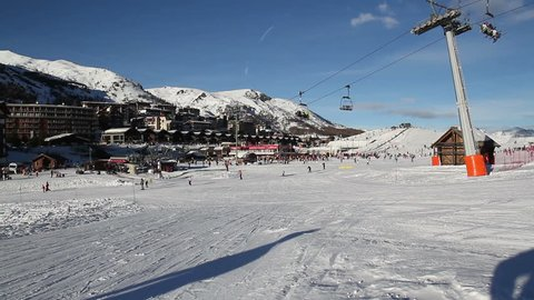 Landscape of Sestriere in winter - Turin Italy