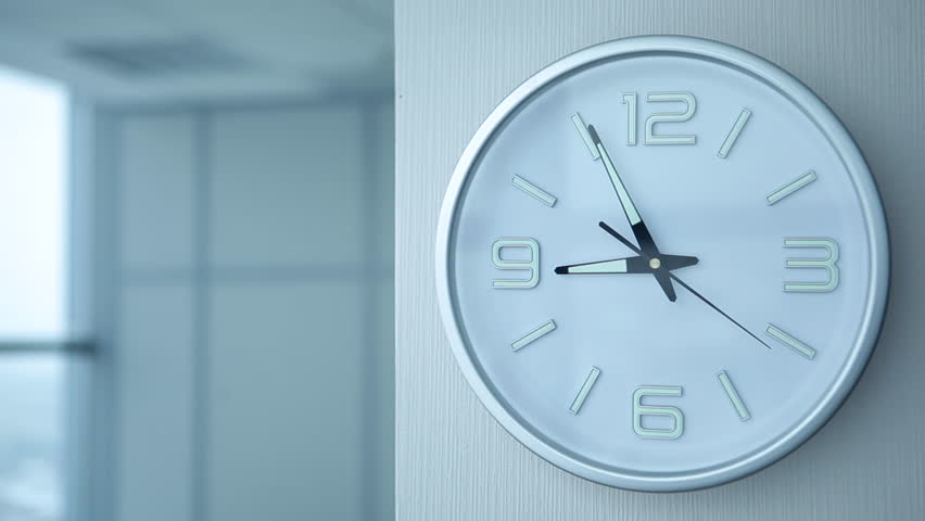 Timelapse Of Office Clock Showing 9/Timelapse Of Office Clocks   HD Stock  Video Clip