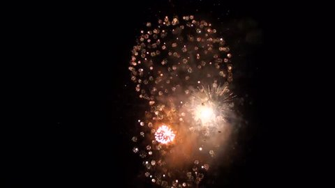 fireworks display at the celebration of St. Rocco