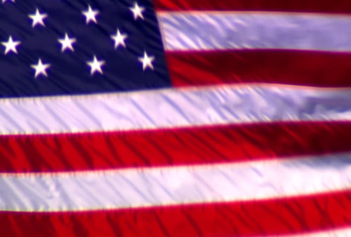 United States Flag Sd Stock Footage Clip