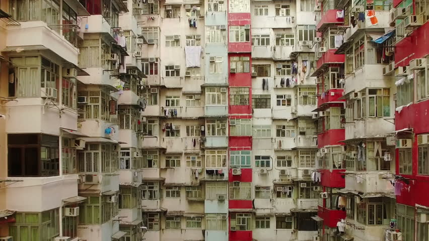 Buildings, Quarry Bay, Hong Kong by Drone | Shutterstock HD Video #23745841