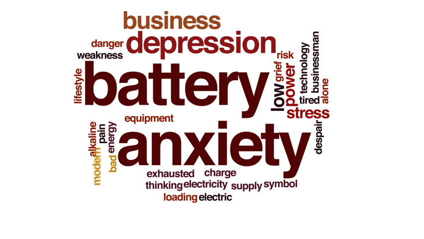 Battery anxiety animated word cloud, text design animation. | Shutterstock HD Video #23773081