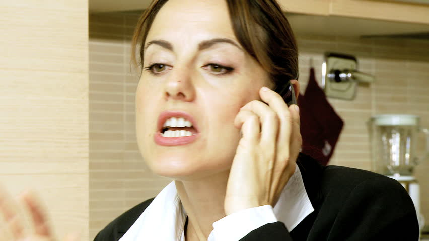 Beautiful businesswoman arguing very angry on the phone #2379434