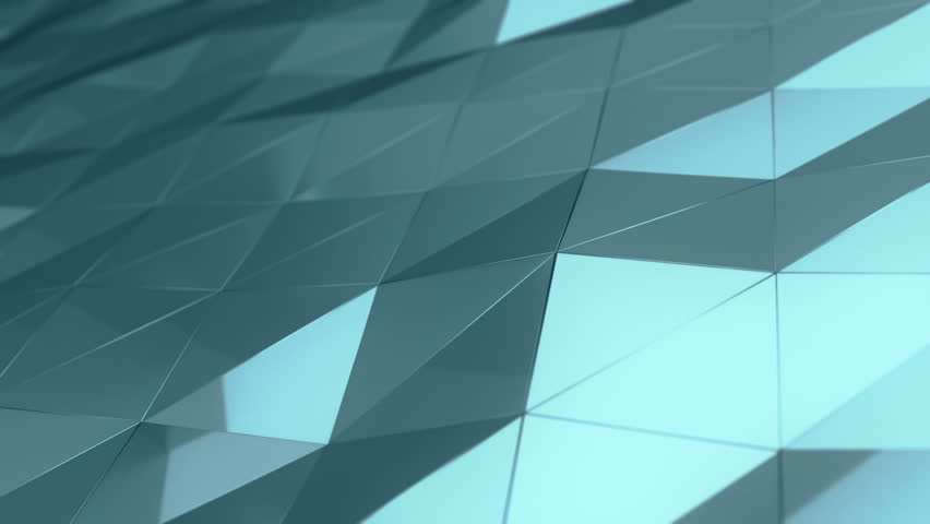 Abstract background with animation of waving smooth polygonal surface from glass, chrome or plastic. Good technological backdrop. Animation of seamless loop.  | Shutterstock HD Video #23851984