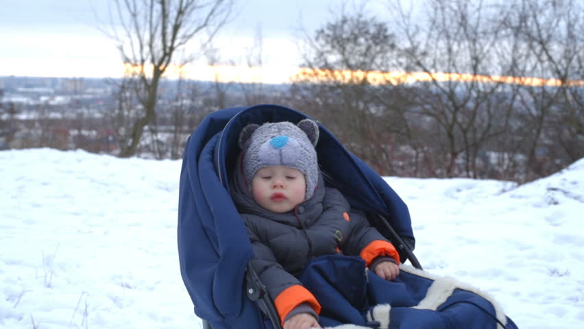 Christmas Vacation Sled.Little Boyl Enjoying Sleigh Ride Stock Footage Video 100 Royalty Free 23852341 Shutterstock