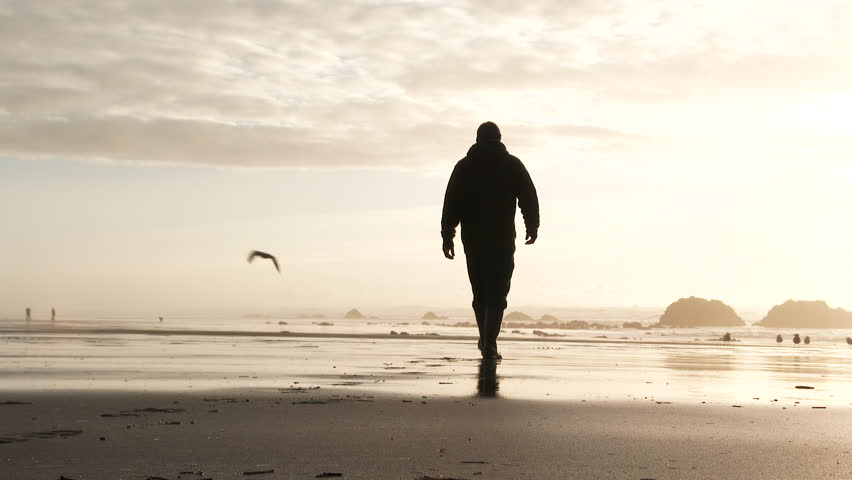 Person Walks Away from Camera Stock Footage Video (100 ...