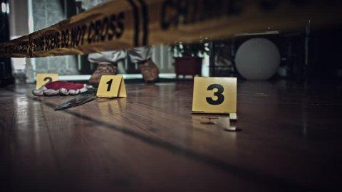 4K Crime Scene Detective Finds Fingerprints on Knife