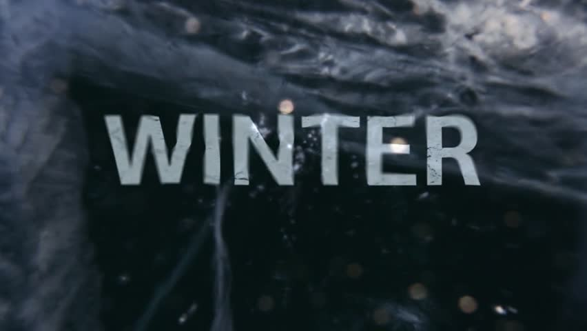 Word WINTER inside the ice. Large, deep ice. The structure and texture of ice closeup. Dolly shot. | Shutterstock HD Video #23882041