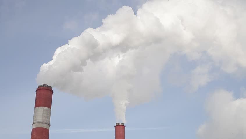 Environmental pollution. Smoke from trumpet. | Shutterstock HD Video #23888614