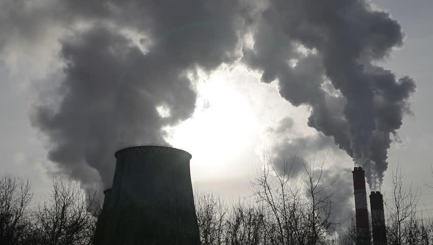 Environmental pollution. Smoke from trumpet. | Shutterstock HD Video #23888746