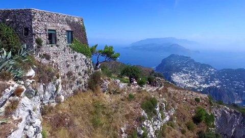 Monte Solaro, Anacapri, Capri, Italy Aerial video