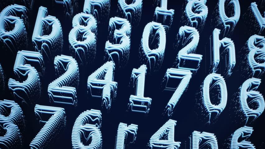 Light Blue Digital Line Numbers Hd Loop | Shutterstock HD Video #23929201