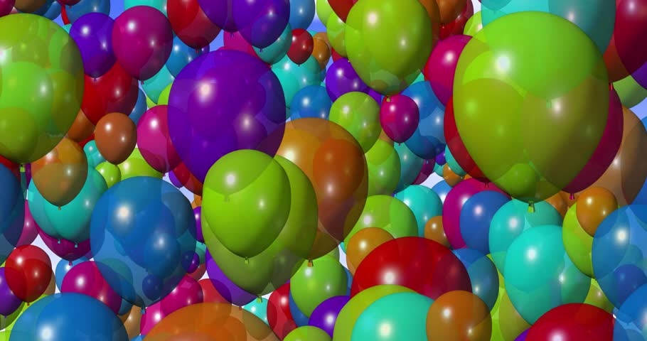 Colorful Balloons 4k Stock Video Clip