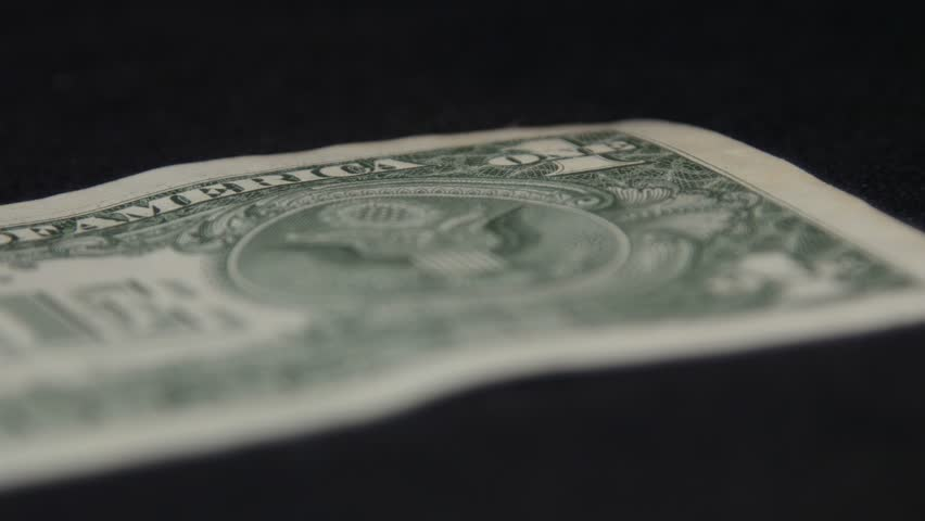 One Dollar And Symbol USA Money Map And Flag Stock Footage - Us money map