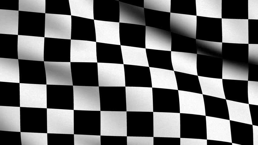 Checker Flag - very highly detailed race flag slowly waving in the wind - 16 seconds