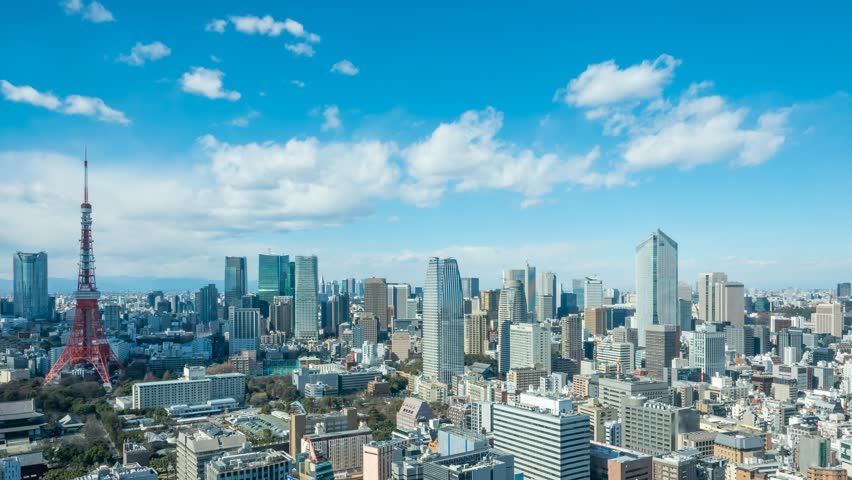 Timelapse view of Tokyo city