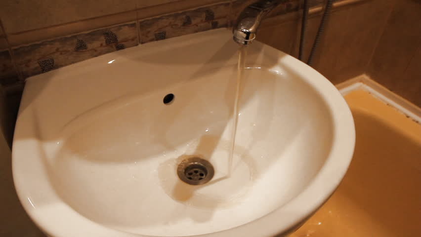 Dirty Bad Brown Water Coming Out Of Faucet. Stock Footage Video ...