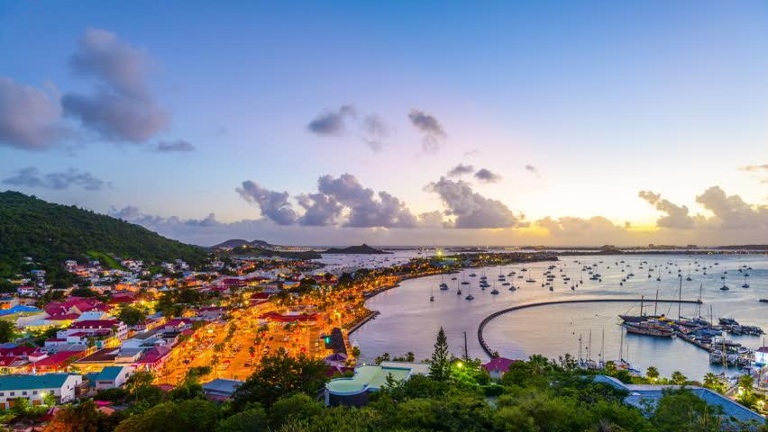 Marigot, Saint Martin in the Caribbean.