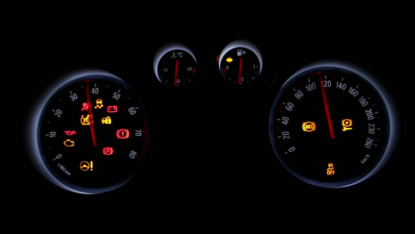 Big Set Of Automobile Indicators Lights Up Signs From The Car - Car image sign of dashboardcar dashboard icons stock photospictures royalty free car