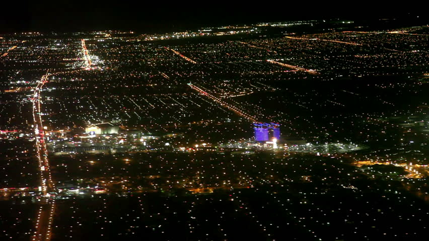 Airplane landing to Las vegas