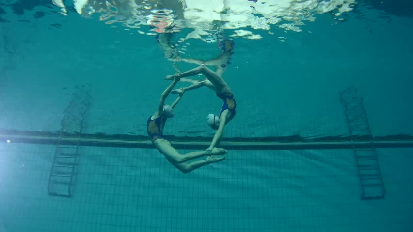 Underwater view of Synchronized Swimming | Shutterstock HD Video #24131821