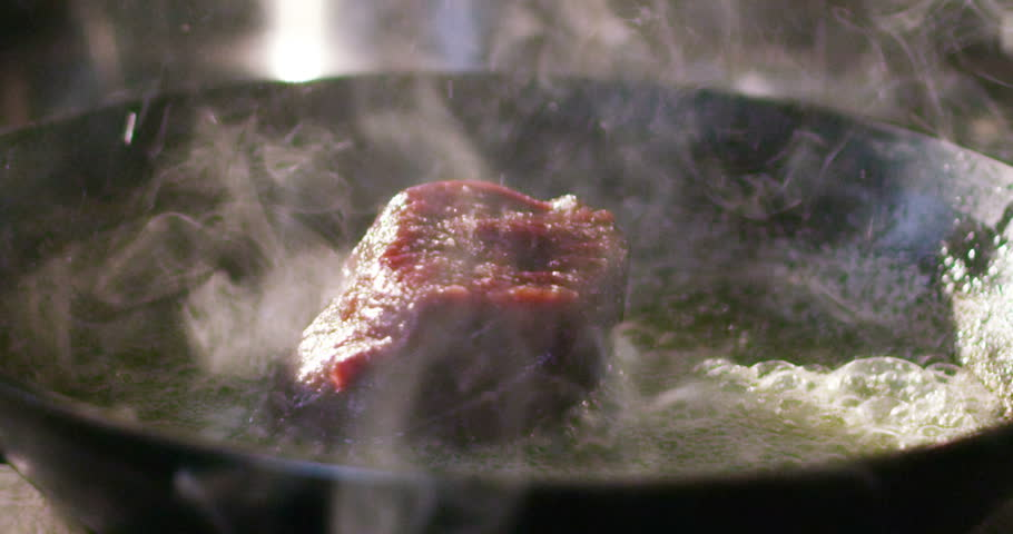 Cinemagraph of a filet fried, meat