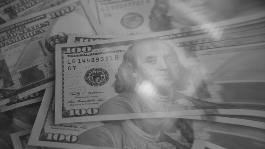 Pile of Dollars Under Magnifying Glass. Black & White color  | Shutterstock HD Video #24135256
