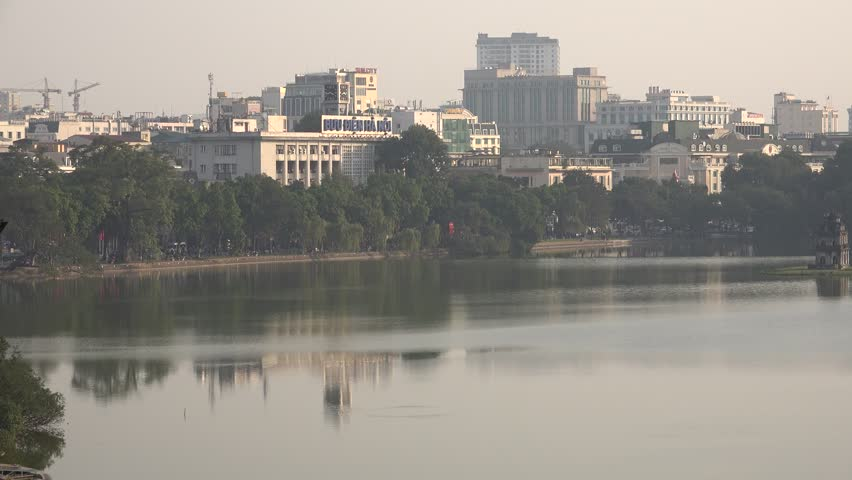 Hanoi with view from above, with traffic on the way. | Shutterstock HD Video #24149941