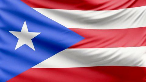 Realistic beautiful Puerto Rico flag 4k
