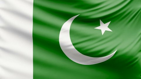 Realistic beautiful Pakistan flag 4k