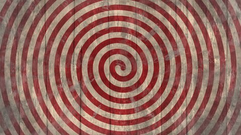 Circus/ freak show/ fair/ optical illusion vintage spiral wooden background. Seamless loop, with flashing vignette. Ideal as a backdrop for creepy, circus, fair or western themed project. 1080p,30fps