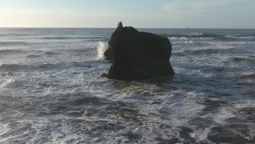 Far Slow Push 120fps ,Aerial, 4K, 15s, 1of25, Ocean Beach, Aerial slow motion , shore, beaituful, epic , Slow motion, crashing waves, Reveal, Stock Video Sale - Drone Discoveries llc..mov | Shutterstock HD Video #24169807