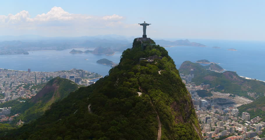 Aerial view of Botafogo Bay and Sugarloaf Mountain, Rio de Janeiro, Brazil | Shutterstock HD Video #24183301