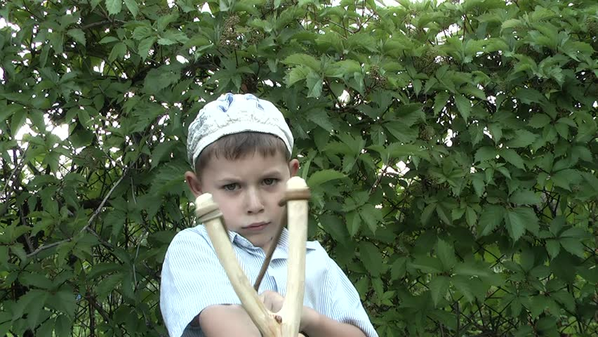 Child with Slingshot