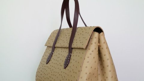 Handbag on white background. Concept for website ladies' accessories - no logo, no name, no brand