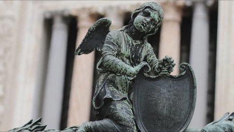 Angel sculpture in Bergamo