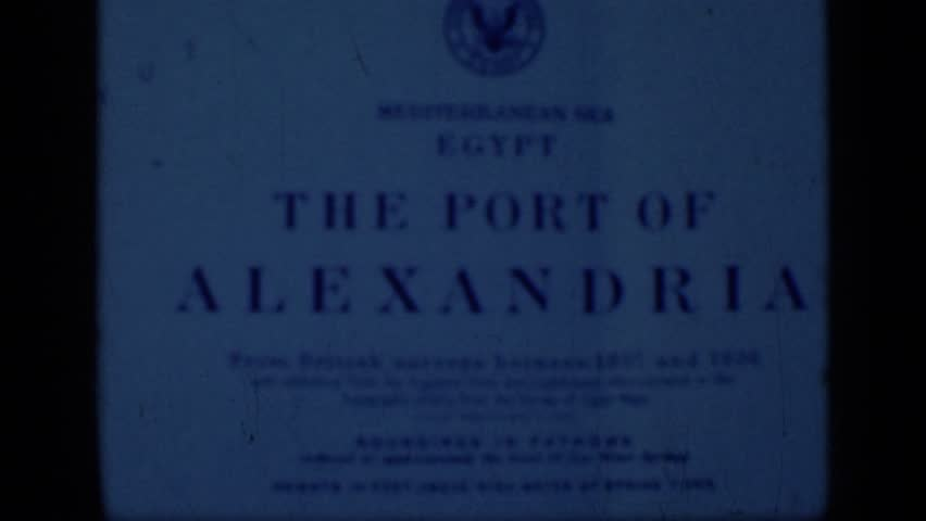 EGYPT 1946: black and white close up of egypt document. | Shutterstock HD Video #24442661