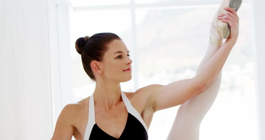 Ballerina practicing ballet dance in the studio #24466091