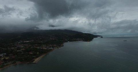 Aerial View of Ilhabela, Sao Paulo, Brazil