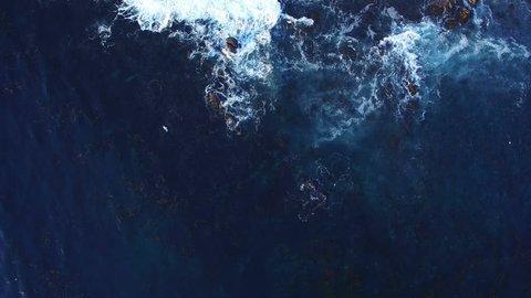 Ocean Birds Eye View Aerial 06 Waves at Shore