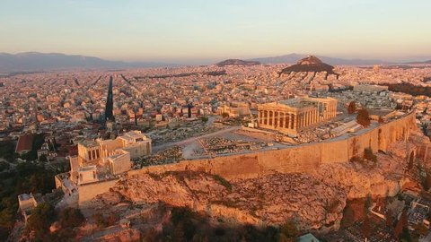 Acropolis of Athens in Magic Hour