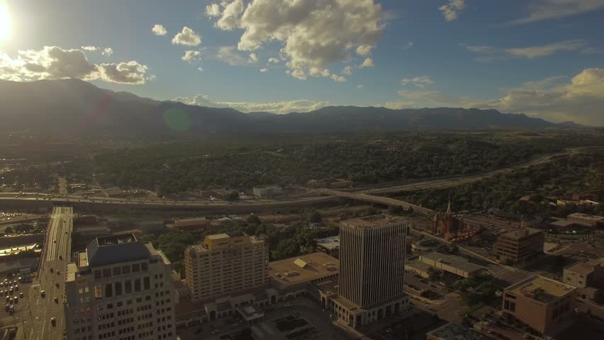 Aerial Colorado Denver September 2016 4K