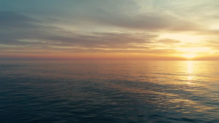 Colorful sea sunrise with scenic cloudscape | Shutterstock HD Video #24664901