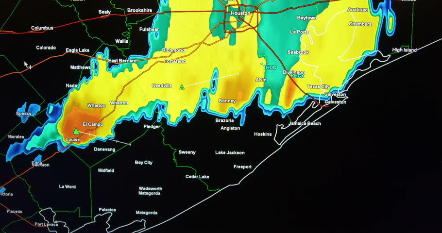4k00:30Severe storms on Doppler weather radar monitor screen on