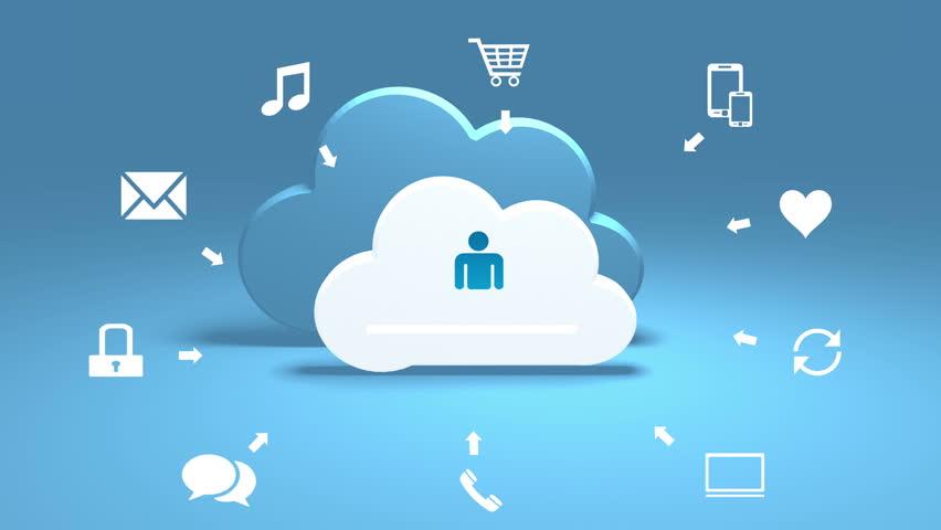4k,Update the informative cloud,upload progress,web tech background. cg_03807_4k | Shutterstock HD Video #24701111