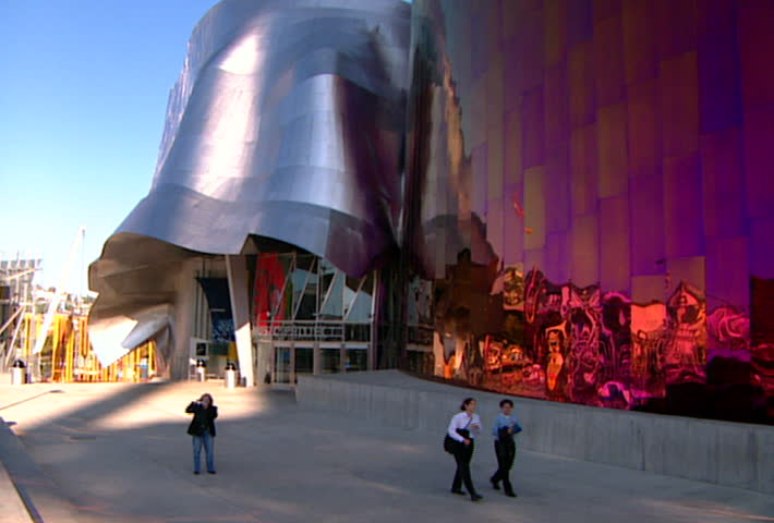 Attractive Previously Known As The Experience Music Project And Includes The Science  Fiction Museum And Hall Of Fame. Stock Footage Video 2472527   Shutterstock Home Design Ideas
